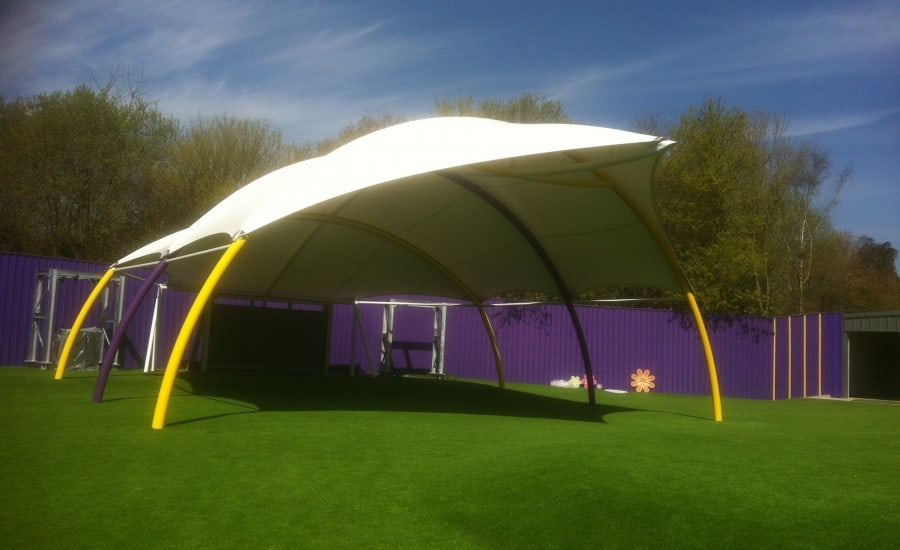 colourful shade canopy