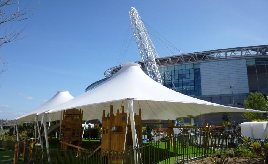 Shaded play canopy