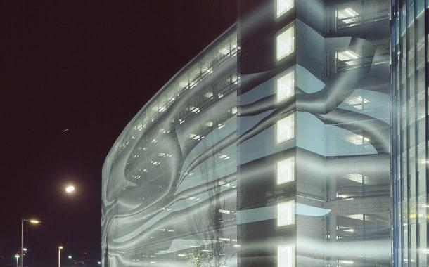 Creative facade cladding on building