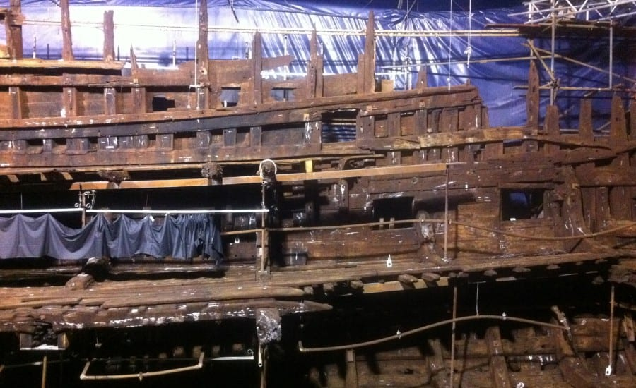fabric structure over the Mary Rose