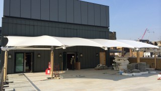 Rooftop fabric canopy