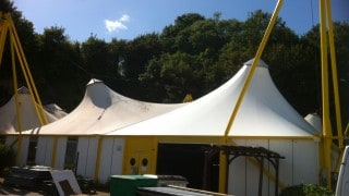 Tensile fabric roof replacement