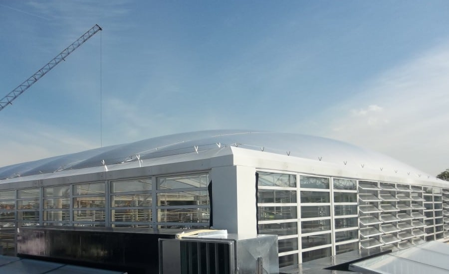 ETFE roof over The London Oratory School