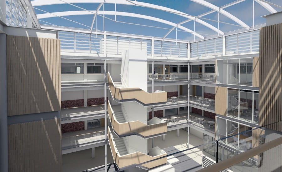 Visualisation of ETFE roof over school