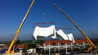 Fabric Structure being installed