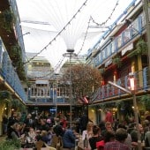 Kingly Court Fabric Structure at Christmas