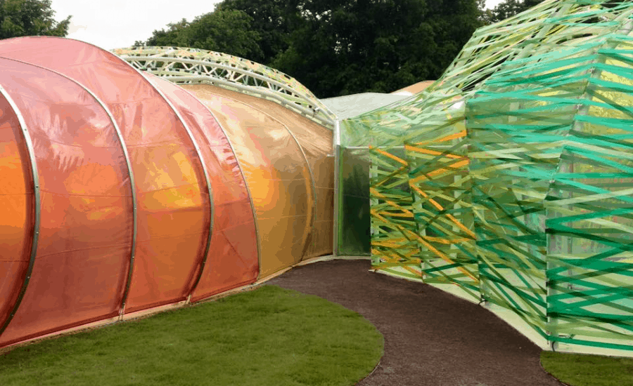 Demountable ETFE structure
