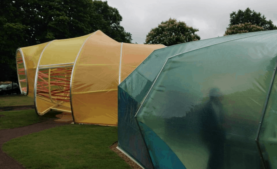 Single layer ETFE with coloured printing