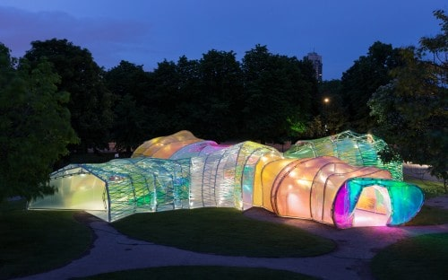 ETFE structure at night