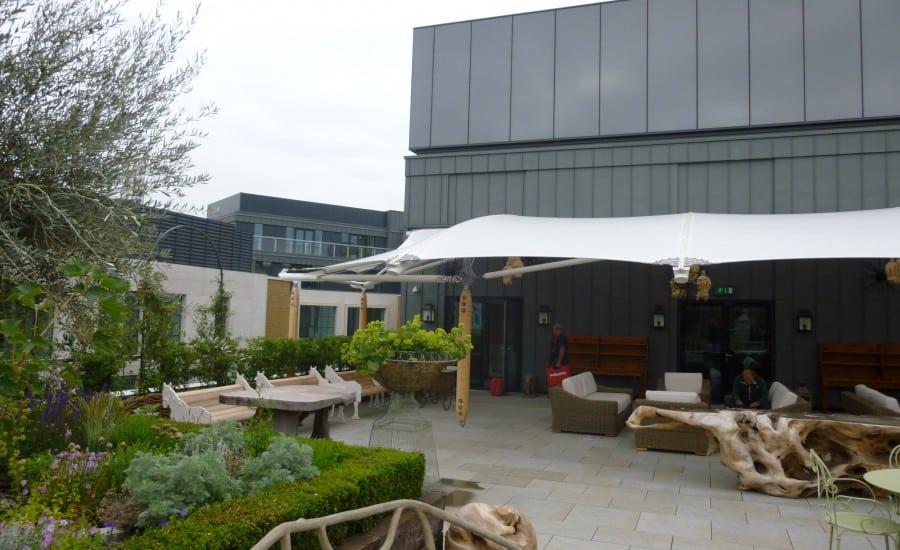 Ham Yard Terrace Tensile Fabric Canopy Architen Landrell