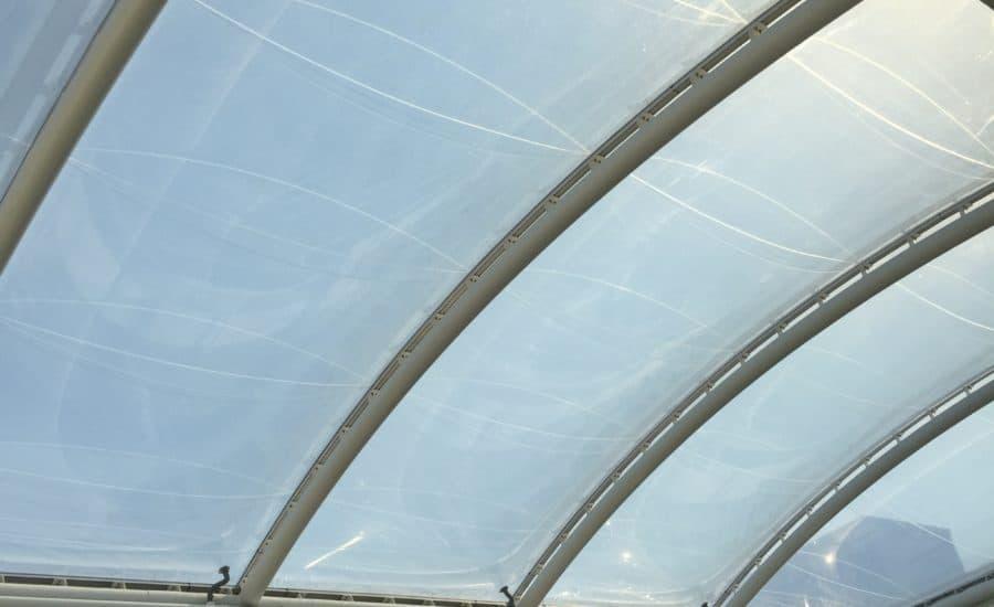 Atrium roof covering