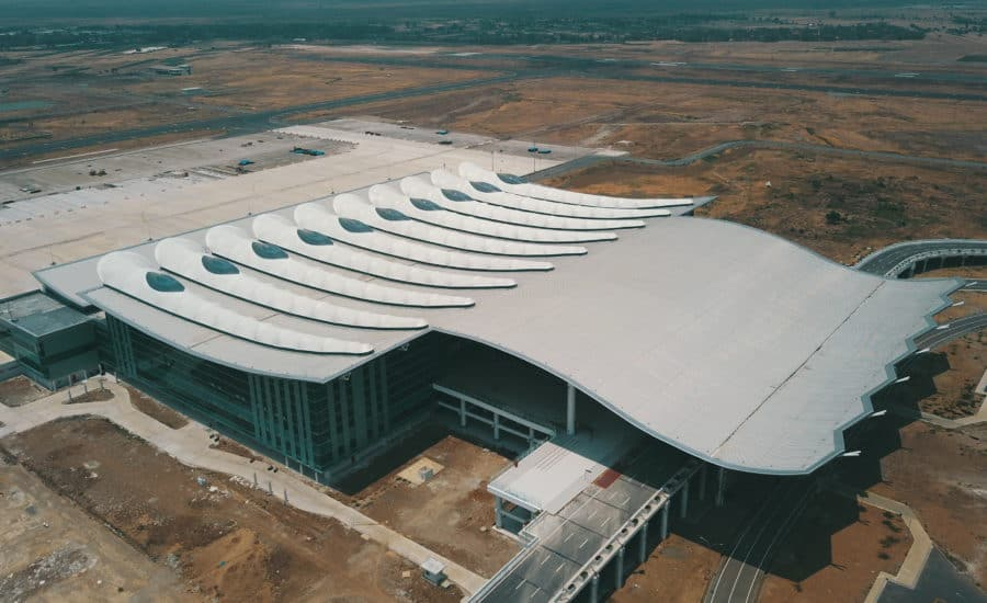 Membrane roof with ETFE
