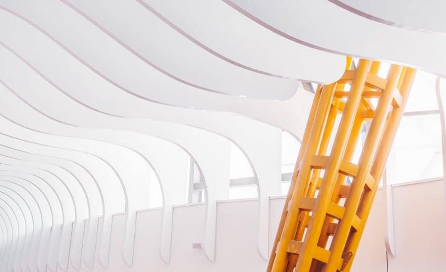 Architectural fabric fins