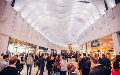 Fabric ceiling sculpture