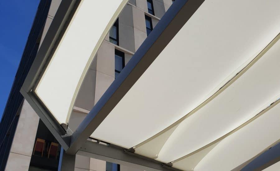 Exterior fabric sails