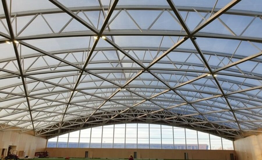 ETFE cushion roof over football ground