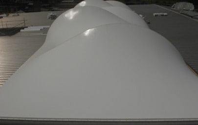 White barrel vaulted roof