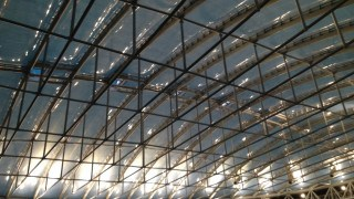 ETFE cushions over a swimming pool