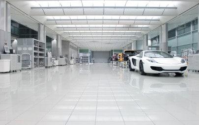 Mclaren production centre roof panels
