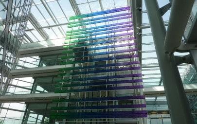 Colourful interior design feature
