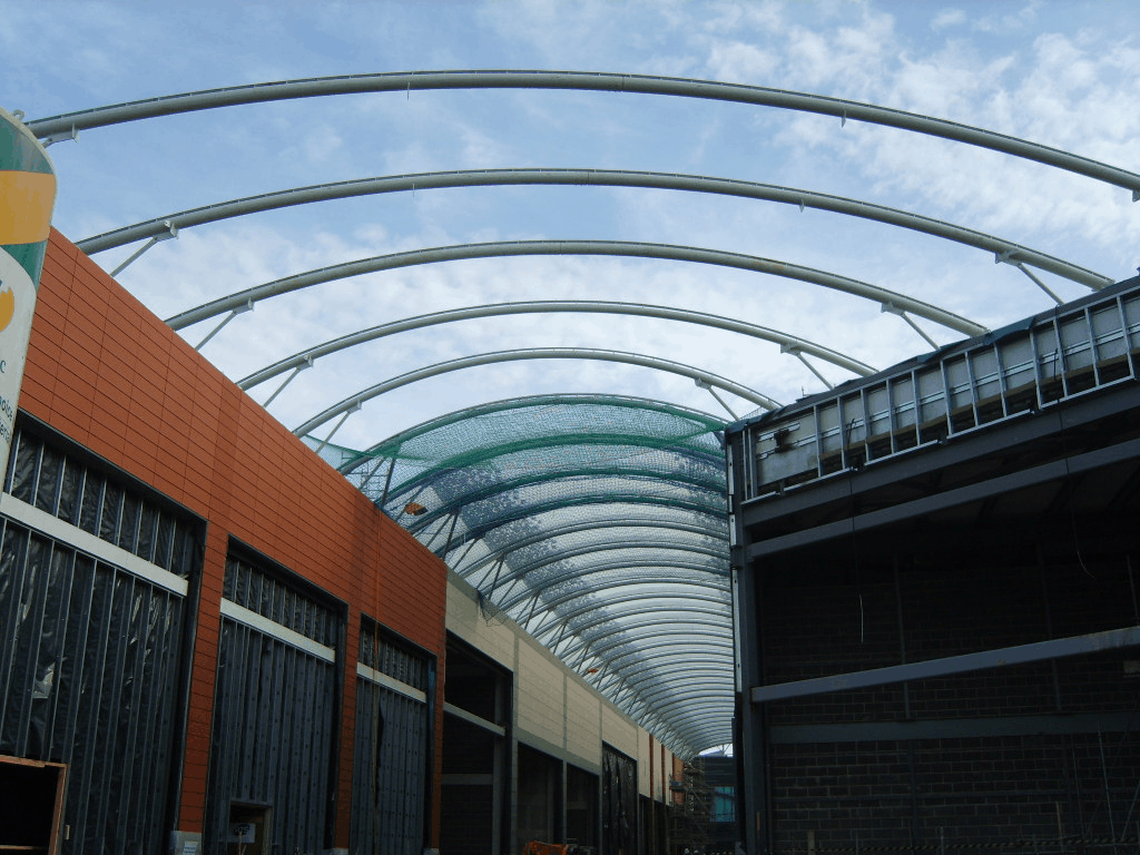 Watch Us On Site At Trinity Walk Wakefield Etfe Roof