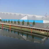 Inflated fabric building for Olympic Water polo