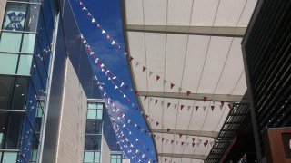 Tenara canopy over a shopping centre