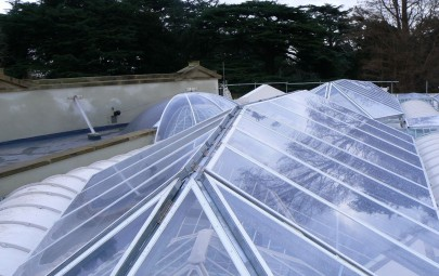 Single layer ETFE panels at listed building