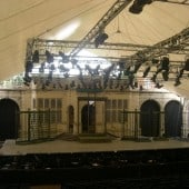 demountable fabric PVC stage and performance canopy