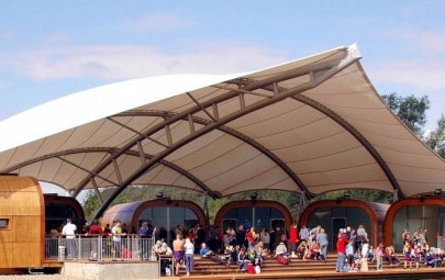 PTFE seating canopy