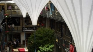 Inverted Cones made of Tenara – Kingly Court, London
