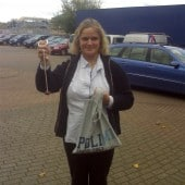 Chris Edwards winning conker tournament for Architen Landrell