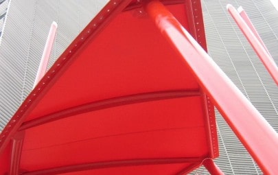 Red PVC polyester artists sculpture