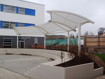 Fabric amphitheatre canopy