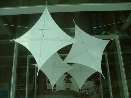 Tensile fabric sails