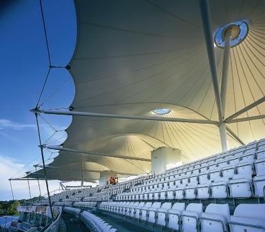 Fabric membrane roof