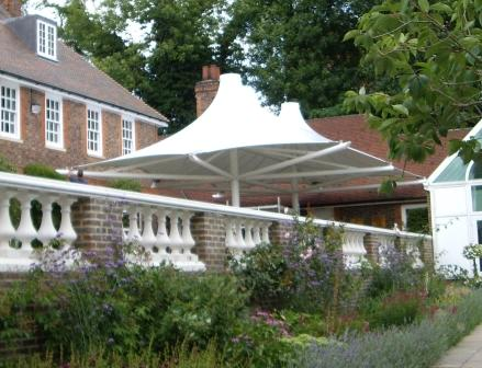 PVC fabric shading canopy