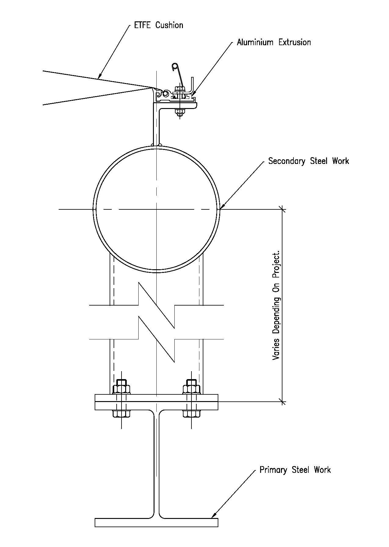 Perimeter steel connection detail
