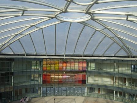 ETFE dome used instead of glass