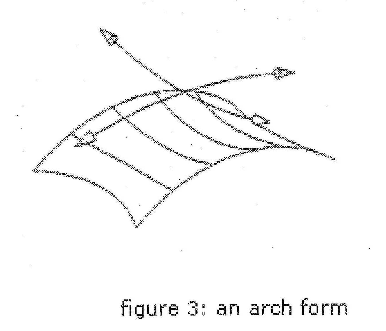 A tensile membrane arch