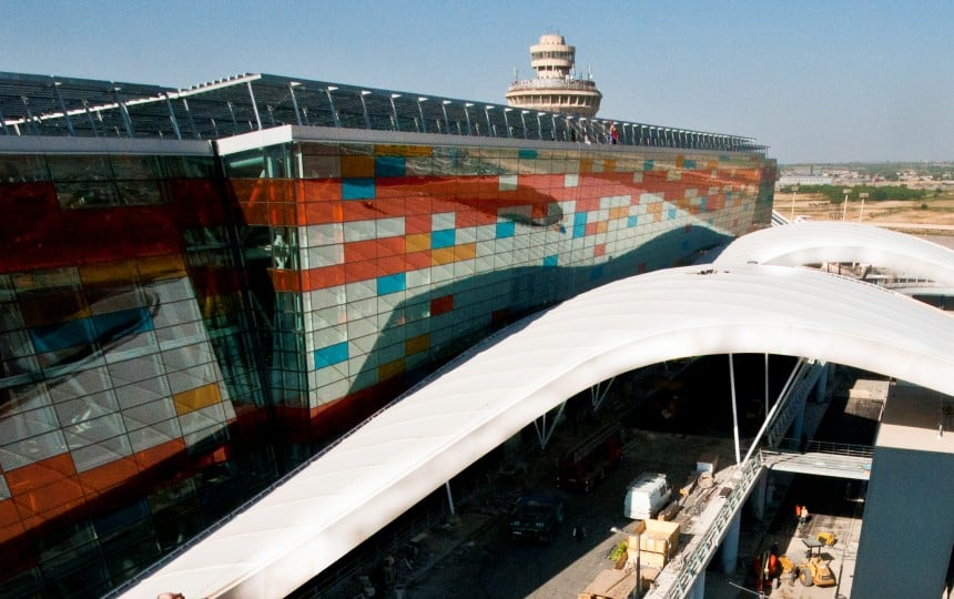 PTFE airport canopy