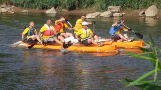 Monmouth Raft Race 2012  – Mens Race 2nd Place