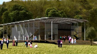 Garsington opera renders for temporary fabric structure