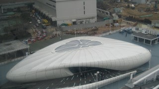 chanel pavillion fabric structure for temporary event use