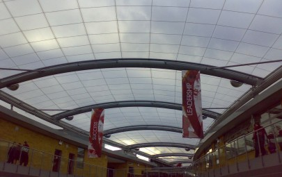 Single layer ETFE for a school