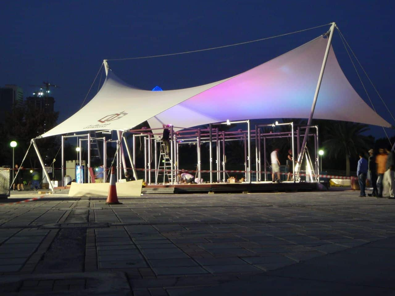 Qatar Gas Exhibition Canopy Architen Landrell