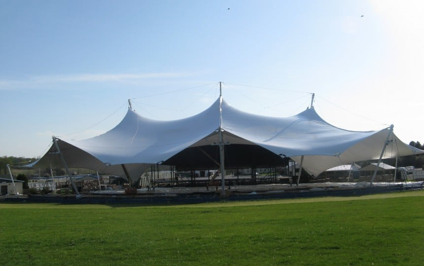 PVC coated polyester fabric structure