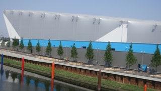 PVC cladding to a sports venue