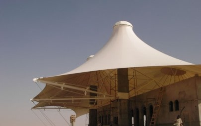 Double conic canopy